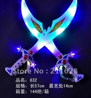 Flashing knives swords glow sword toy sword with sound of music children's toys a s