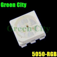 1000pcs/lot +Free Shipping SMD 5050 LED RGB (Red Green Blue ) Ultra Bright Wholesale and Retail