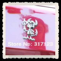 50PR/LOT Cheap Wholesale 3d Devil Car Emblems Badge gold silver red 14.5*6cm Bumper Stickers Cool Car Decals
