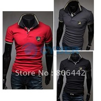 2012 New Korean Men's Slim Men's Short Sleeve  POLO Shirt