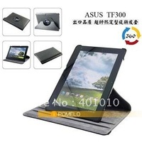 360 degree rotary leather cover case for Asus Eee Pad Transformer Prime TF300  698  free shipment by airmail