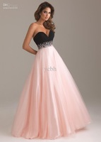 Wholesale - 2012 Sweetheart prom dress  Floor-length Sleeveless Chiffon/Tulle Beading Y6452 Prom Dress
