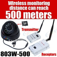 Hot sell 500M Wireless  remote control Day/Night 7daysx24hrs digital Video Recorder CCTV  Camera