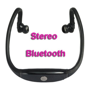 Hot selling !!High Quality Bluetooth Slim Stereo Headset Handsfree S9 Headphone with retail box Free shipping wholsale