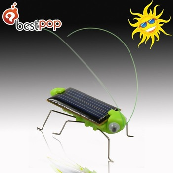 10 pcs/lot ,ABS green solar grasshopper toys,free shipping