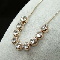 ITALINA Brand Design 18K Rose Gold Plated  Can Movable 9 Crystals Elements Necklace Jewelry Hot Hot Hot