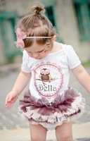 Платье для девочек baby girl bright pink dress summer princess dress 4pcs/lot s