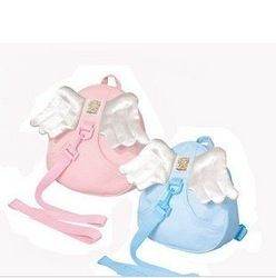 Angel wings anti-lost baby bag lost with small bag backpack(China (Mainland))