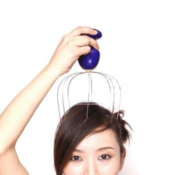 Motorized Head Scalp Massager Stress Relax Equipment Electric Head Massager  hxb0446