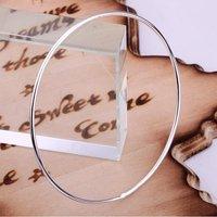 B123 Wholesale 925 silver fashion jewelry circle ring bangle jewellery fashion bracelets and bangles 30pcs/lot free shipping