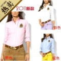 Oxford silk cloth cotton women's 2 long-sleeve shirt slim 100% cotton casual shirt polo-03