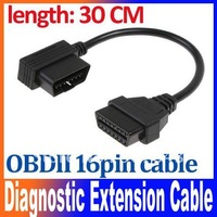 OBD-II OBD2 16-Pin Male to Female Diagnostic Extension Cable 30cm free shipping