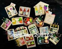 Rural Scene Bottle Fruit wooden Fridge Magnets Creative Household Log Fridge magnet ( mix order 10 usd )