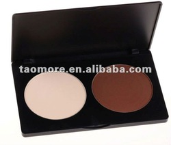 Free Shipping 2 Color Contour Face Powder Palette TM-P2(China (Mainland))