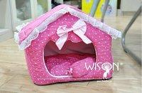 Free shipping hot sale new design dog beds,high quality beauty princess dog house,lady pet house