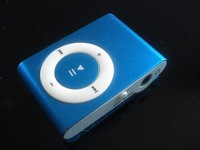 Free Shipping Cheap wholesale! Clip MINI 4GB MP3 Player with Cross Button No screen colorful small clip Digital  MP3