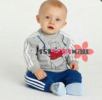Комплект одежды для девочек Retail one set baby girls clothing set Minnie short sleeves T-shirt+pants cotton sports suits Tees Pink/Blue color