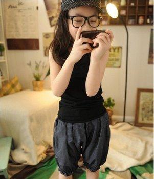 Free shipping !! Summer children girls trousers cute fashion Harlan 5 minutes long Polka Dot Pants