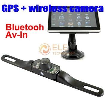 5 inch GPS Navigation with Bluetooth AV-IN 4GB gps wireless car rear view reversing camera