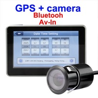 5 inch car camera gps FM+Bluetooth+Game+GPS +4G TF card+Rear view camera