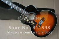 left handed sj200 acoustic guitar Vintage Sunburst sj-200 acoustic guitar+ free guitar Tuner