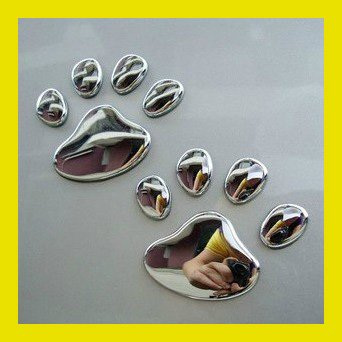 3D Cool Bear Dog Footprints Car Stickers PVC Personality Car Decoration Cute Animal Stickers(China (Mainland))