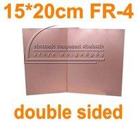 wholesale 5pcs/lot double Side 15*20cm FR4 FR-4 Glass fiber Blank Copper Clad Printed Circuit Board Universal Prototype PCB