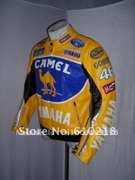 2012Free shipping CAMEL men's motorcycle jacket motorcycle racing jacket PU leather motorcycle jacket [FO08]hjewqw
