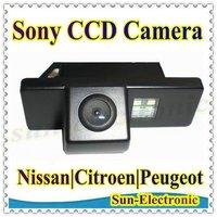 SONY CCD Car Rear View Reverse CAMERA for Nissan QASHQAI X-TRAIL Geniss Citroen C4 C5 C-Triomphe Peugeot 307cc Pathfinder Dualis