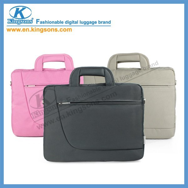 "Free Shipping!!2011 Latest Trend in Handbag Kingsons Nylon Laptop Computer/Notebook Handbag Messenger Bag KS6049W 14"" Wholesale!(China (Mainland))"