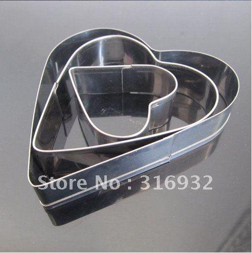 D3 grátis frete em forma de coração decoração biscoitos cortadores 3 peças/set(China (Mainland))