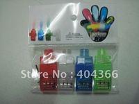 2000 pcs/lot (500 packs) Colorful Finger Lamp Laser Led Finger Lights Halloween Light Cristmas Festival Gift (OPP bag)