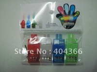 2000 pcs/lot (500 packs) Colorful Finger Lamp Laser Led Finger Lights Halloween Light Cristmas Festival Gift (OPP bag)