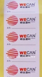 2012 Promotional Corlorful Adhesive Lable Sticker(China (Mainland))