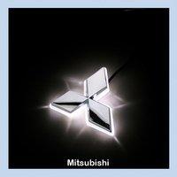 Mitsubishi Galant 09 LED Car Decal Logo Tail Light Auto Badge Light for Mitsubishi Emblem Lamp White