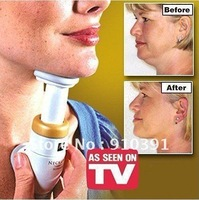 Free Shipping,DIY neckline slimmer as seen on TV,travels beauty massager,Dramatic Neck Exerciser Chin Massager device!