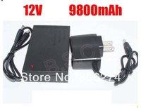 DHL    shipping 20pcs/lot Mini DC 12V 9800mah Rechargeable Li-ion Lithium Battery for CCTV camera
