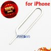 Free shipping 100pcs wholesale Sim card tray eject pin key tool for iPhone 4/4s/3gs/3g/ipad 3g