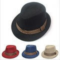 2012  kids children`s Caps linen fedora hat  2-5year 5colors