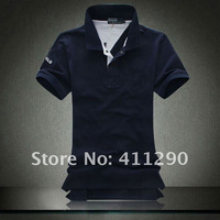 Free shipping New Men's Leisure little horse Polo Shirts T-shirt Cotton Short Sleeve Shirt Sports design Mixed Order 16 colors