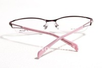 Hot Sale: Frame Rimless Metal Alloy Eye Glasses Eyewear like Silhouette Pink, High-grade spectacle frames