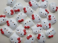50Pcs Hello Kitty FlatBack Resins Scrapbooking Embellishment Free Shipping 1""