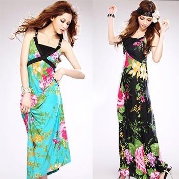 Long Cool Womanblack Dress on 2012 Fashion Women S Long Dresses Smooth Cool Fabric Women Dress
