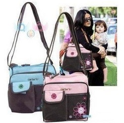 Carter&#39;s waterproof diaper bag/ multifunctional babby bag/Nappy tote bag with changing Mat(China (Mainland))