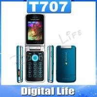 T707 Original Unlocked Sony Ericsson T707 mobile phone 3G bluetooth mp3 player 3.2MP camera Free shipping