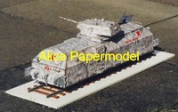 [Alice papermodel]Long 50CM 1:18 WWII the Soviet Union snow armored train locomotive models