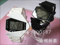 Wholesale - New led plane watch children America B-2 Invisible bomb carrier aircraft Fashion watch/Black,white