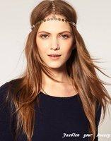 Ювелирное украшение для волос New Products for 2012 Metal Gold Plated Leaf Elastic Hairband Headband for Women, OY071325