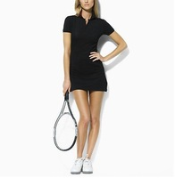 Free shipping!Best quality,2012 new  fashion,Hot sale,Ladies sports short sleeve dress,color BLACK,size S M L XL