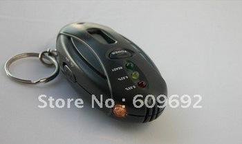 Free Shipping! Wholesale 20pcs/lot  Keychain Digital Breath Alcohol Tester Breathalyzer analyzer